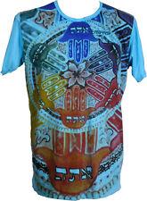 Mirror T-Shirt Hand der Fatima türkis Sure, Größe M NEU Goa Hippie Psy Hamsa