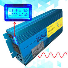3000W Peak Pure Sine Wave Power Converter Inverter DC 12v to AC 230v Car camping