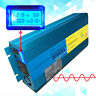1500W 3000W Caravan Converter Pure Sine Wave Power Inverter DC 12V to AC 240V UK