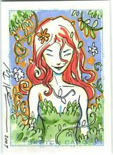 Poison Ivy Card Art - 2007 Signed art by Mike Huddleston