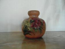 N° 1 - Vase en terre cuite décor peint années 30 40