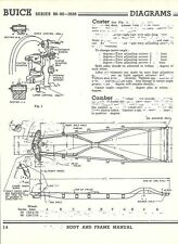 1938 Buick Series 80 90 NOS Frame Dimensions Align Spec