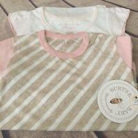 NWT BURTS BEES Baby Girl 24 Months Organic Bodysuit 2 Piece Set Short Sleeve 24M