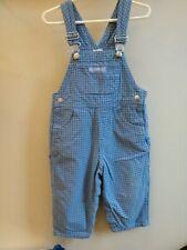 Vintage Baby Gap Infant Boys girls size 2 xl 24 mo. Blue Jeans Overalls plaid