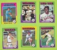 1975 Topps - Singles For Set Builders *  Card Numbers 400-499  *  NrMt Shape