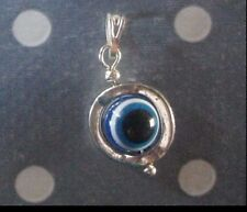 Silver pendant Greek evil eye good luck charm pendant circle Made GR ELGR