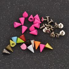 7mm Cone Bullet Studs Rivets Tree Leathercraft Rivet Bullet Spikes Spots 10 Pcs