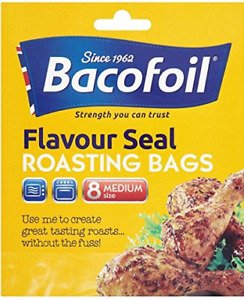 Bacofoil Flavour Seal Roasting Medium Bags x8 Easy Roast Oven Cook Multi Purpose