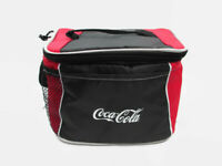 Coca-Cola 6-pack Lunch Cooler Bag Red and Black Colorblock w/ Handle and Strap