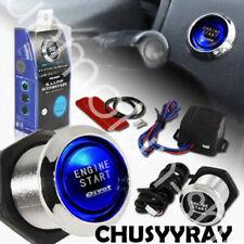 12V Car Engine Start Push Button Switch Blue LED Ignition Starter Kit