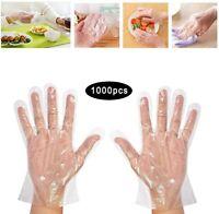 1000PCS Disposable Plastic Clear Gloves Non Latex Food Prep Kitchen Home Golve