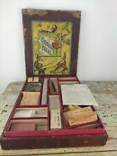 Antique magic set. Conjuring tricks. British manufacture