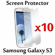 Clear LCD Screen Protector Guard Cover Film For Samsung Galaxy S3 i9300 x10 pack