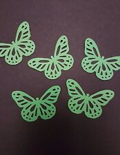 25 Green butterflies wedding crafts, scrapbooking, table confetti