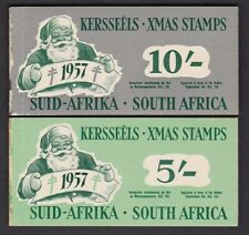 South Africa 1957 5s 10s Xmas stamp booklets