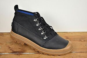 Tom's Black W/ Brown Trim Lace Up Boot Size: 8.5D