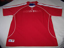 Sydney Swans AFL Mens Red Printed Premium Training T Shirt Size S New
