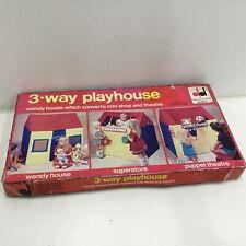 Vintage Dekkertoys 3-way playhouse #403
