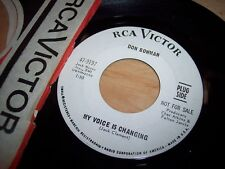 "VG++ Don Bowman My Voice Is Changing/What Kind Of Fool PROMO 7"" 45RPM w/ppr slv"