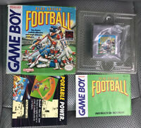 VINTAGE 1990 Nintendo GAME BOY PLAY ACTION FOOTBALL USA COMPLETE EXC!!!