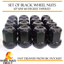 "16 * 1/2"" UNF Half Inch Black Alloy Steel Wheel Lug Nuts 60 Degree Tapered Bolts"