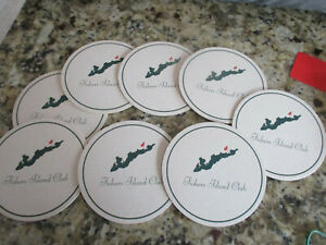 Fishers Island Golf Club New Old Stock Complete set of 8 COASTERS