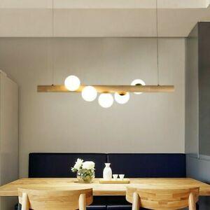 Modern Linear Pendant Light Glass 5 Light Kitchen Island Lamp Lighting Fixture