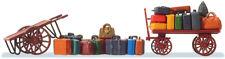 Preiser HO Scale Luggage Carts 1/87 Plastic Model Set 17705