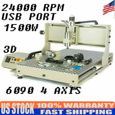 Usb 1500w 4 Axis 6090 Cnc Router Engraver Kit 1500w 3d Engraving Milling Machine