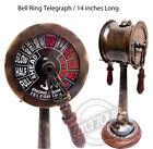 "Brass Vintage Ship Telegraph Marine Engine Room Decorative 14"" Collectible Decor"