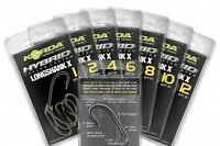 Korda NEW Long Shank X Carp Fishing PTFE Hooks - Barbed / Barbless