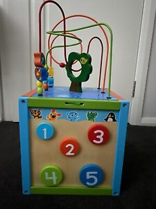 Imaginarium discovery wooden kids activity cube, educational toys