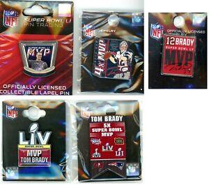 Tom Brady Super Bowl MVP Pin Choice 4X 5X SB LI 51 Patriots SB LV 55 Buccaneers