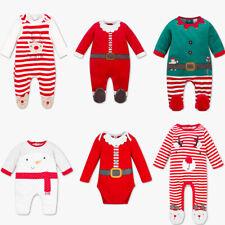 Baby Weichnachten Set Outfit Strampler Body Schlafanzug Nikolaus