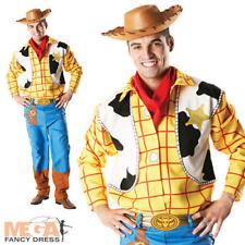 Toy Story Woody + Hat Mens Fancy Dress Disney Western Cowboy Adults Costume New
