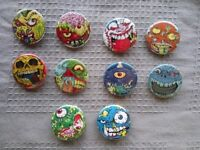10 x Madballs button (25mm, badge, pin, rubber balls, foam balls)