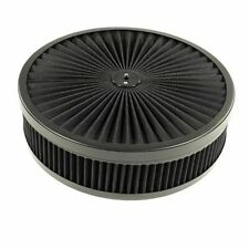 AIR CLEANER WASHABLE BLACK FILTER Chevy Ford Mopar Edelbrock Carburetor KIT NEW