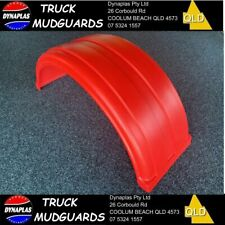 SUPER SINGLE RED TRUCK MUDGUARD poly TWIN STEERS & SEMI TRAILERS 470mm wide