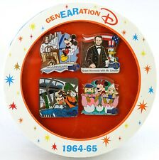 NEW Disney Parks 2015 D23 Expo GenEARation D 1964 World's Fair 4 Pin Set LE 300