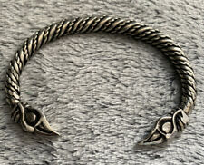 Viking Odin's Raven (Huginn and Muninn), Solid Pewter Bracelet