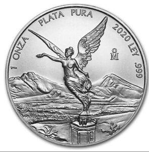 LIBERTAD – MEXICO – 2020 1 OZ BRILLIANT UNCIRCULATED SILVER COIN- Ready To Ship