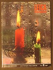 1968 LEICA MAGAZINE Vintage Photography Christmas Candle  Helmut cover camera ad