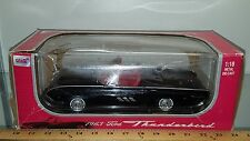 1/18 ANSON 1963 FORD THUNDERBIRD SPORT ROADSTER BLACK with RED INTERIOR bd-U