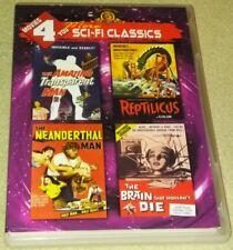 MOVIES 4 YOU SCI-FI CLASSICS DVD Transparent Man Reptilicus Neanderthal RARE oop