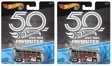 Hot Wheels ~ 2018 ~ 50th Anniversary ~ Favorites ~ Volkswagen T1 Drag Bus ~ Lot