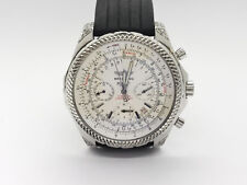 Breitling Bently Round White Dial Diamond Chronograph Stainless Watch A25362