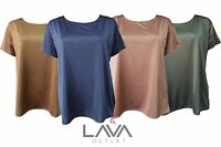 Womens Ladies Plus Size Boohoo Style Casual Lovely Metallic Summer Top - G1028