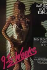 9 1/2 WEEKS Movie POSTER 27x40 B Mickey Rourke Kim Basinger Margaret Whitton