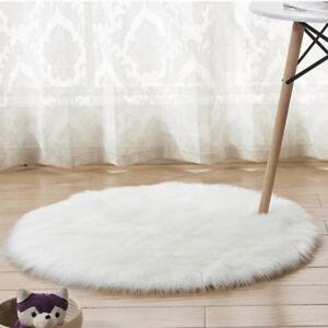 60/90/120cm Shaggy Fluffy Rug Anti-Skid Area Home Room Bedroom Carpet Rugs Mat