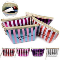 Portable Women Girl PU Travel Cosmetic Makeup Bag Storage Tote Pouch Organizer